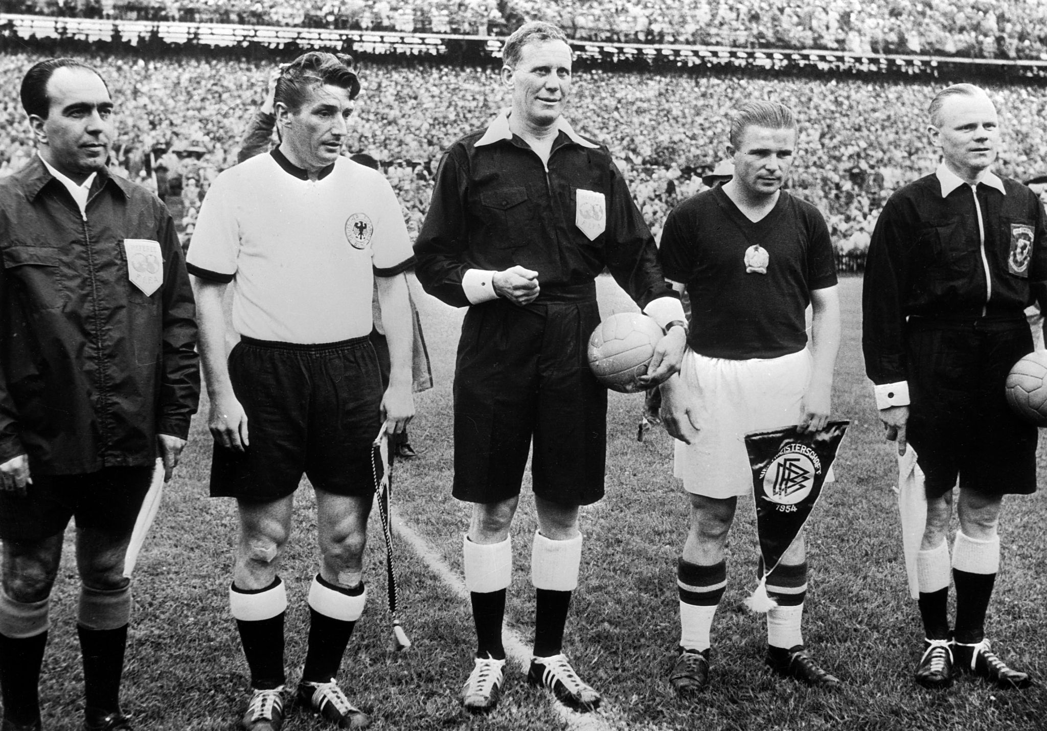 Pre-Adidas World Cup match ball FIFA World Cup 1954 ...