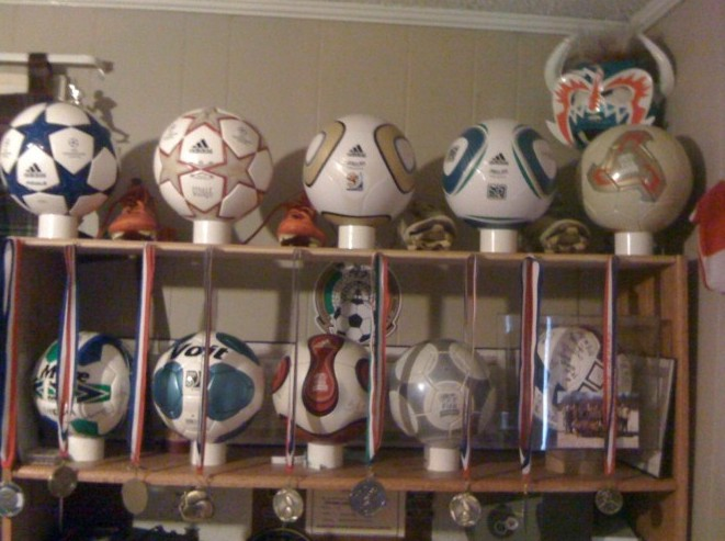 Gustavo Macias (USA) soccer ball football collection