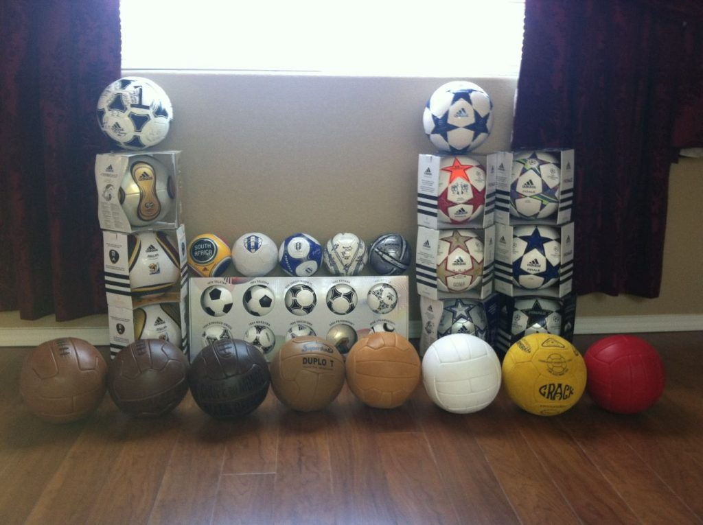 Travis Dutton (USA) soccer ball football collection