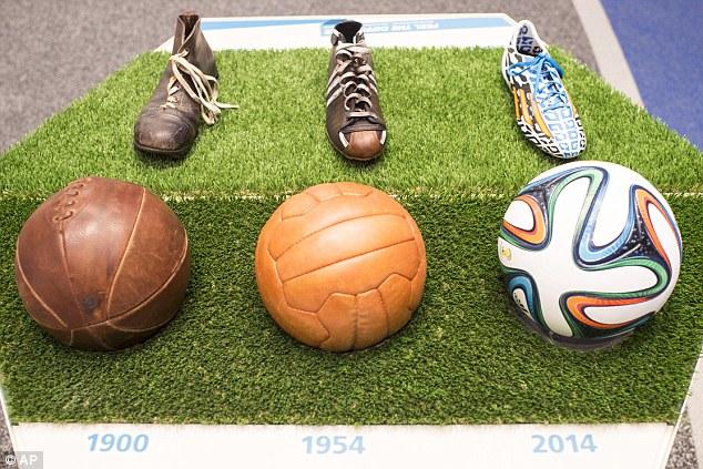 FIFA museum pre-adidas balls-3