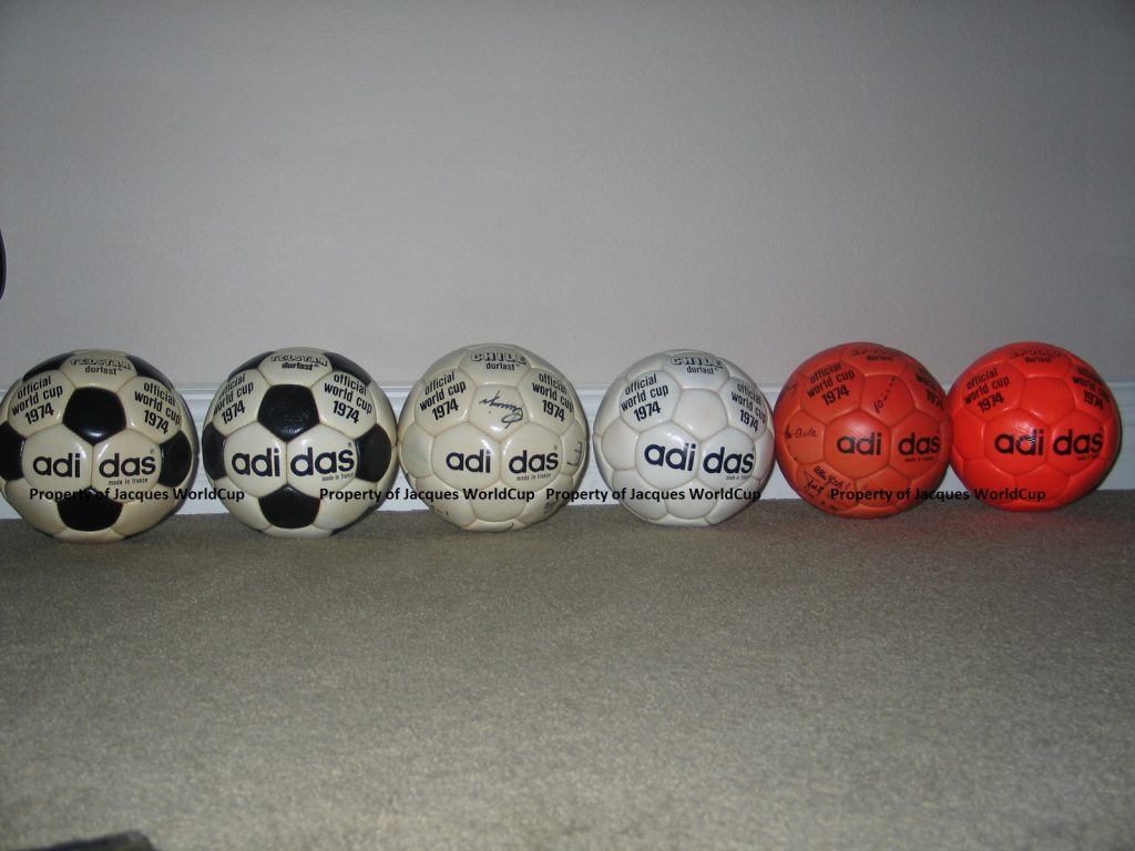 1974 World Cup and 1976 Euro Balls 1